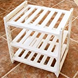 ZZHF yushizhiwujia Storage Racks Plastic Adjustable Storage Shelf Free Combination Bathroom Kitchen Storage Shelf (Color : White)