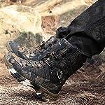 WOJIAO Outillage Tactique pour Hommes Bottes Militaires Quatre Saisons imperméable Antidérapant Chaussures pour Hommes… 13