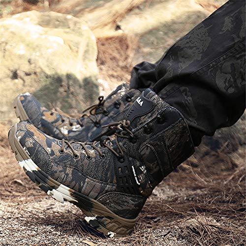 WOJIAO Outillage Tactique pour Hommes Bottes Militaires Quatre Saisons imperméable Antidérapant Chaussures pour Hommes… 6
