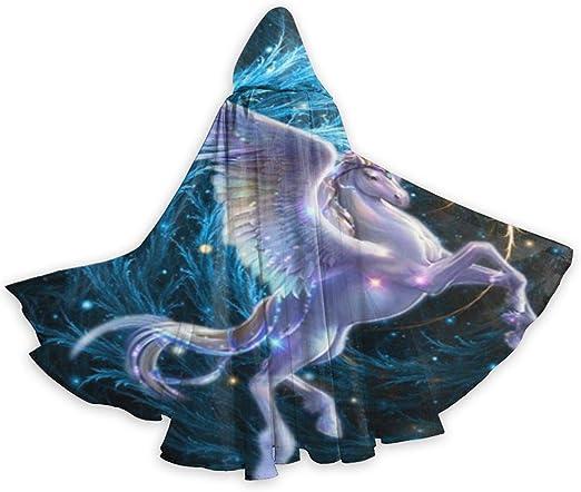 UKBUY Capa Larga Unisex con Capucha de Unicornio Volador mágico ...