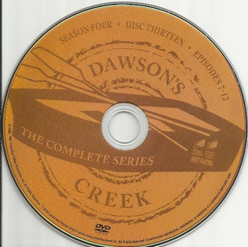 Dawson's Creek the Complete Series Disc 13 Containing Season 4 Episodes 7-12 Replacement Disc!