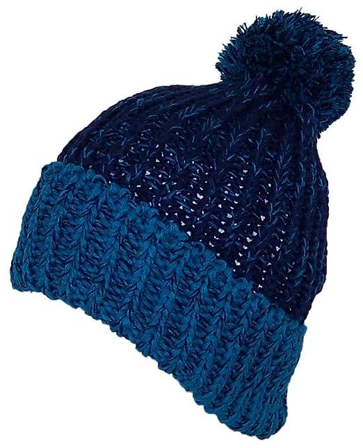 ea1bb95d KJ Thick Adult Stockinette Knit Cuffed Beanie W/Pom Pom (One Size: L/XL)
