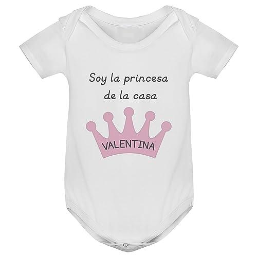 Body bebé manga corta corona personalizado, Regalo único y ...