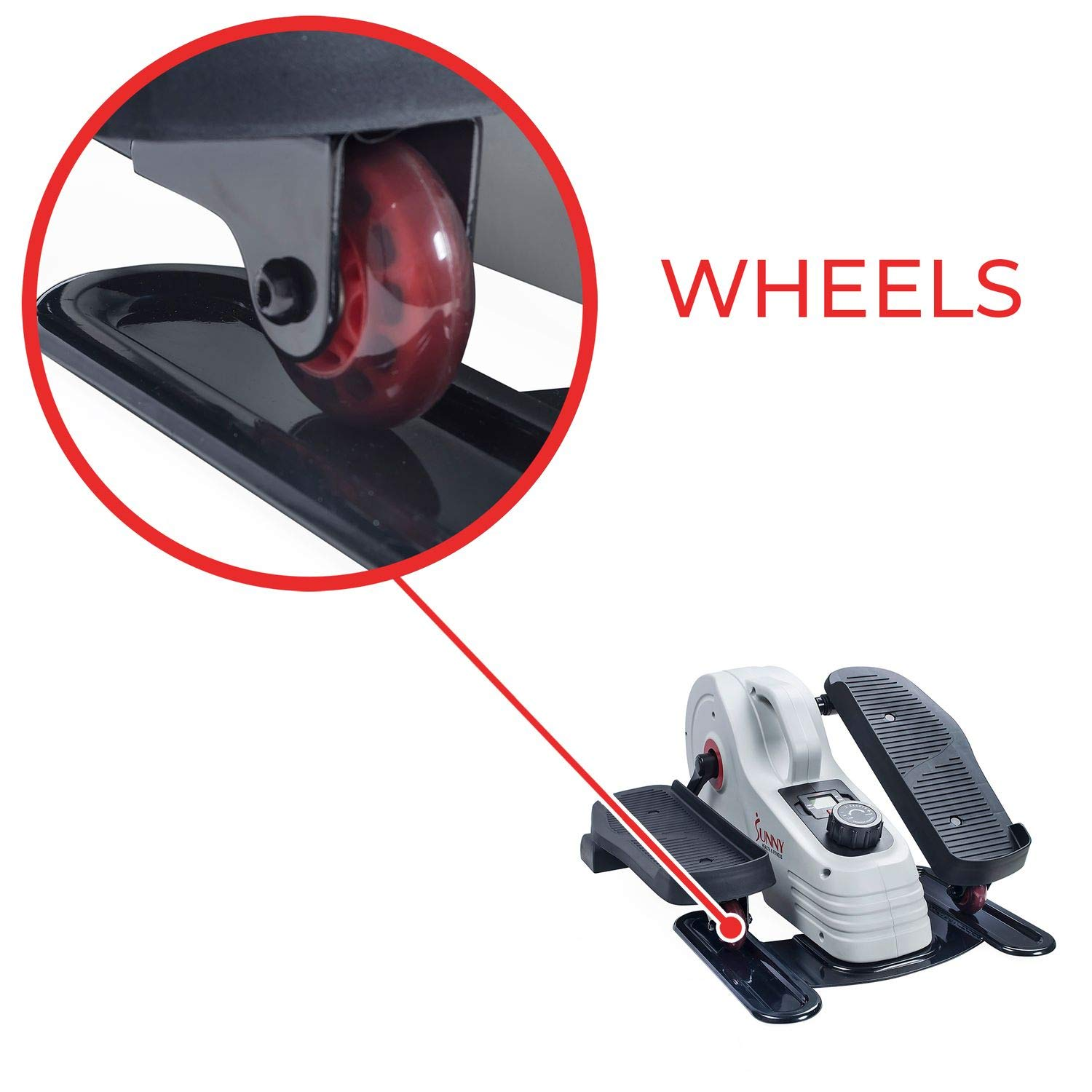 Sunny Health & Fitness Fully Assembled Magnetic Under Desk Elliptical - SF-E3872 by Sunny Health & Fitness (Image #9)