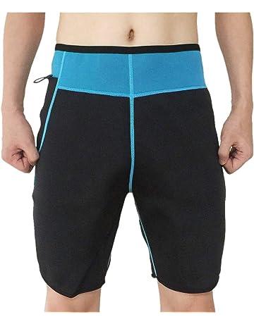 7101f21e0c3 NOVECASA Gilet Sauna Homme Néoprène Pantalon Court Shorts Transpiration  Gymnastique Combustion des Graisses pour Fitness