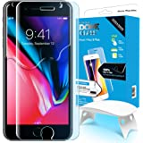 iPhone 8 Plus / 7 Plus Screen Protector Tempered Glass, Full Cover Screen Shield [Dome Fix] Easy Install and Repair Kit by Whitestone for Apple iPhone 8 Plus / 7 Plus - 1 Pack