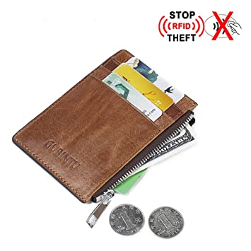 1c20f8911c0e Amazon.com: Prime Sale Day Deals Week 2018-RFID BLOCKING Genuine Premium  Soft Cowhide Leather Minimalist Vintage Wild Man's Front Pocket Wallet  Credit Card ...