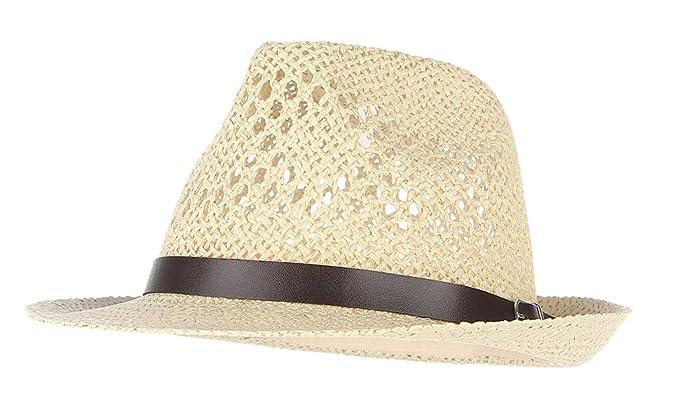 La Vogue Donna Cappello Paglia Uomo Berretto Da Sole Cappello Jazz Beige 7d17713f86a5