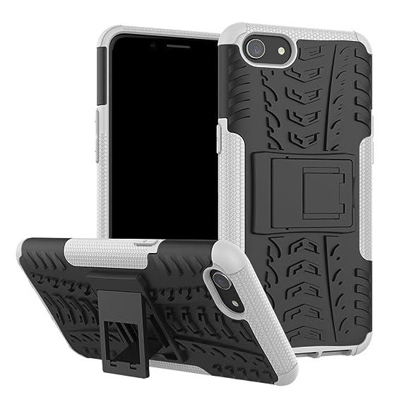 sale retailer cae9a 1c793 Amazon.com: Oppo A83 Case, BasicStock Hybrid Combo Armor [Double ...