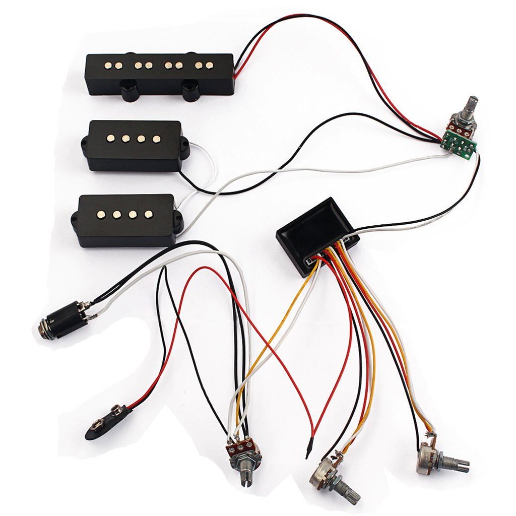 Monkeyjack Loaded Wiring Harness Potentiometer 3 Band Amp Eq Preamp Diagram Equalizer Pickup For Jb Pb Bass