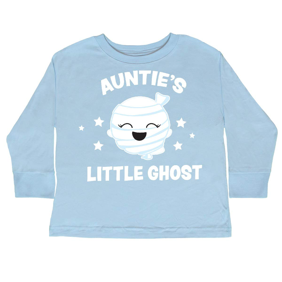 inktastic Cute Aunties Little Ghost with Stars Toddler Long Sleeve T-Shirt