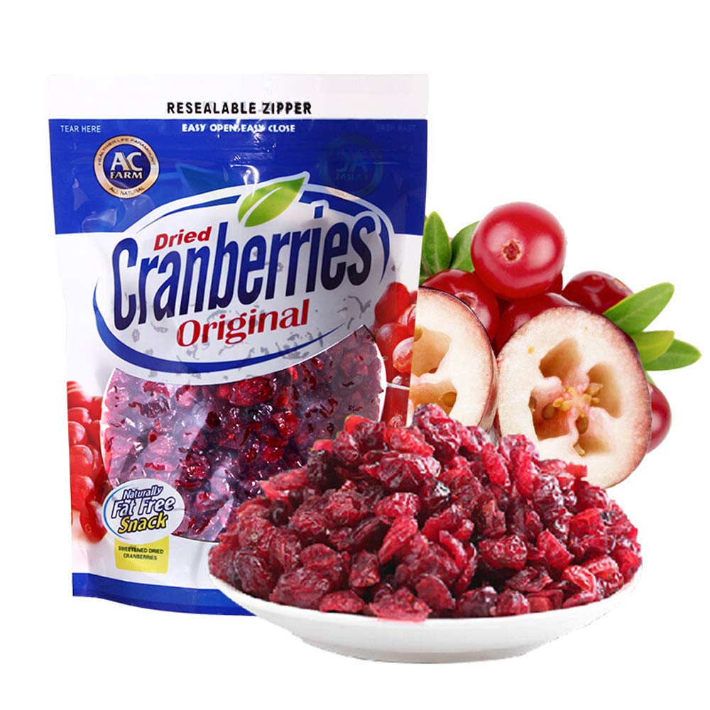 AC Farm Dried Cranberries 14.1-Ounce Original Dried Fruits Snack Gluten Free- Peanut Free (14.1 Ounce (Pack of 2))