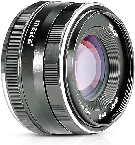 Meike - 50 mm f/2.0 lente grande lente de enfoque manual de la ...