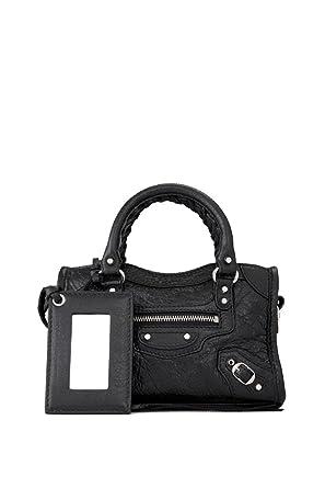 83737e2842 Balenciaga Femme 453205D94JN1000 Noir Cuir Sac Porté Épaule: Amazon.fr:  Vêtements et accessoires