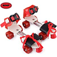 BDMP Sterling Adjustable Roller Skates for Kids Junior Girls Boys Outdoor Sports Games Adjustable Size 16 CMT. to 21 CMT (RED)