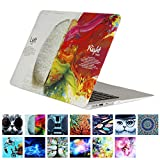 YMIX  Plastic Cover Snap on Hard Protective Case for MacBook Pro 13' with CD-ROM (A1278) , #Left and Right Brain