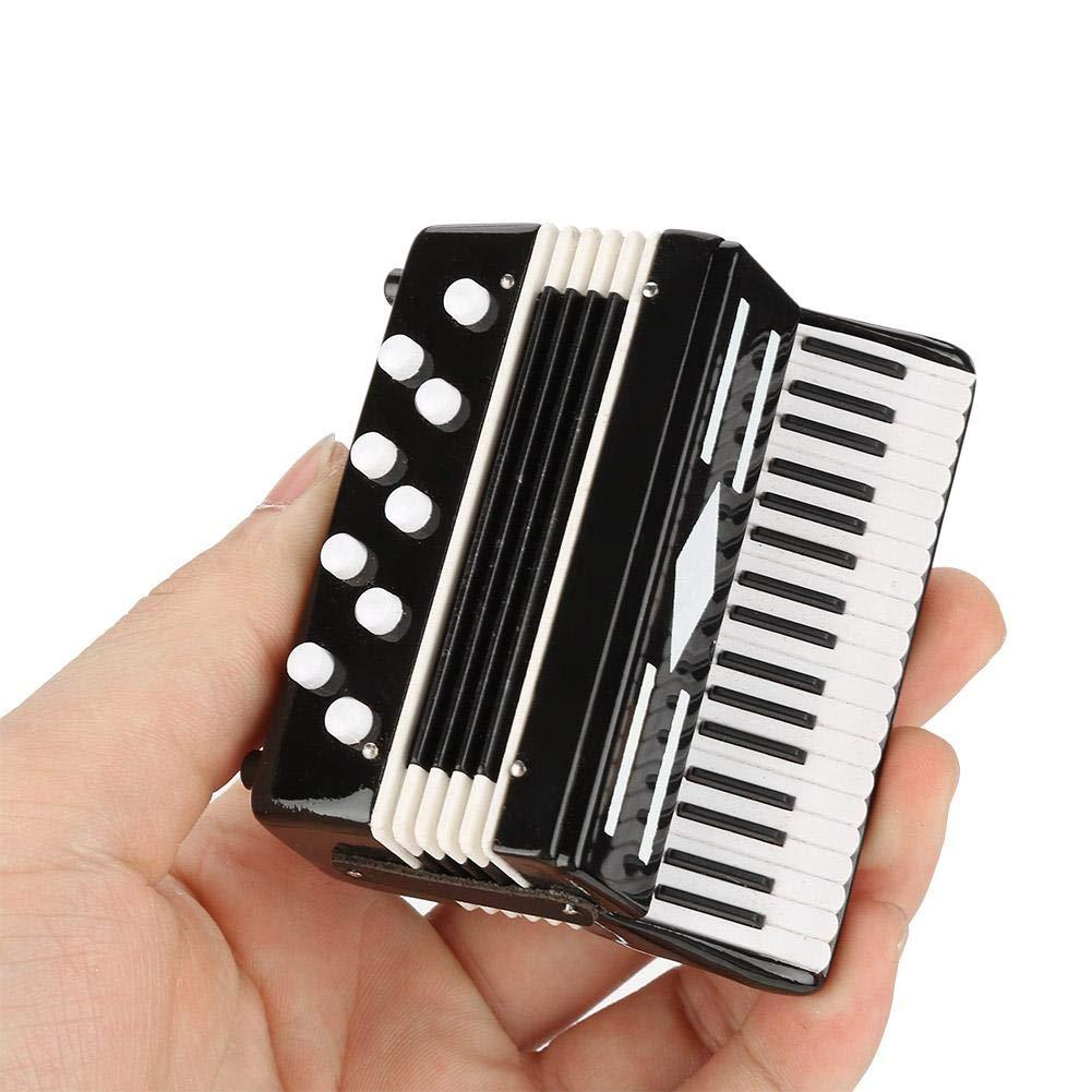 Mini Akkordeon Modell Exquisite Desktop Musikinstrument Dekoration Ornamente Musikalisches Geschenk mit Zarte Box Walmeck Desktop Dekoration