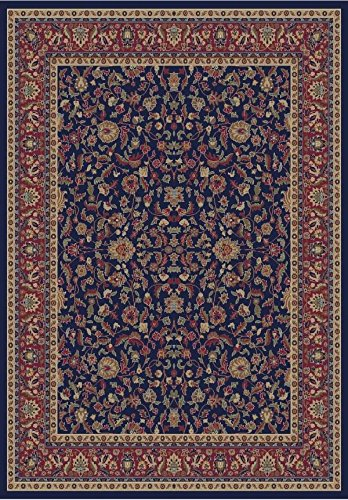 (Rug Depot 145010 Traditional Oriental Area Rug - 5'3 x 7'7 - Emerald Collection - Navy Background - Machine Made of 100% Polypropylene - T-4 Quality Rating)