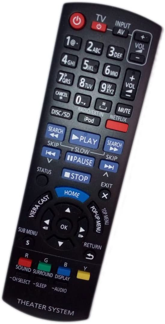 Replaced Remote Control Compatible for Panasonic SC-BTT270 SABTT273 SA-BTT268 SCBTT268 Blu-ray Home Theater System Receivers