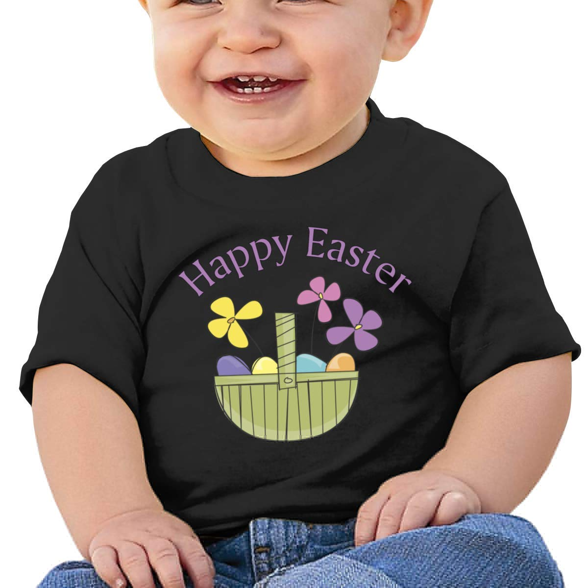 SCOTT CARROLL Happy Easter Short Sleeves T Shirt Baby Girls