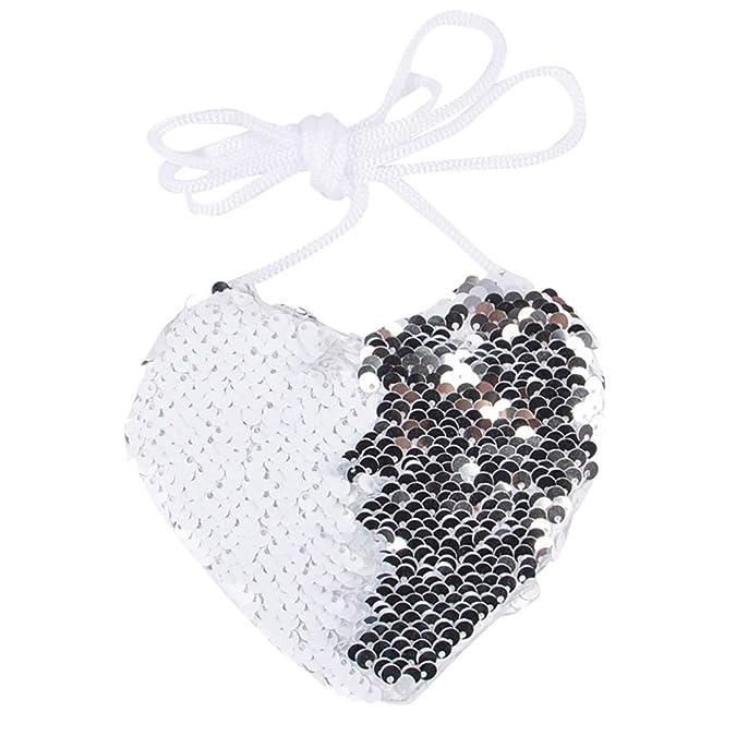 Amazon.com: Bolsas de lentejuelas con forma de corazón ...