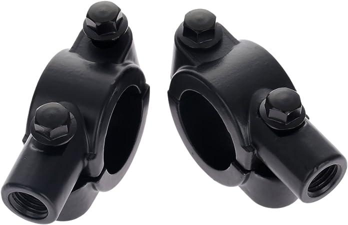 Mtsooning 8 mm filettatura 7//8 manubrio moto specchio supporto morsetto supporto specchio adattatore morsetto nero
