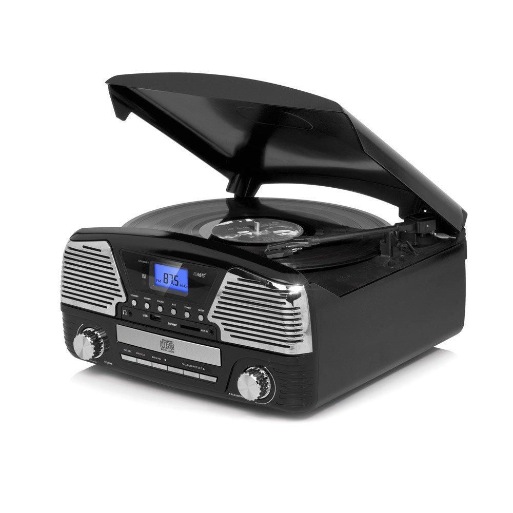 D-Mail - Radio Tocadiscos multifunción Vintage Color Negro ...