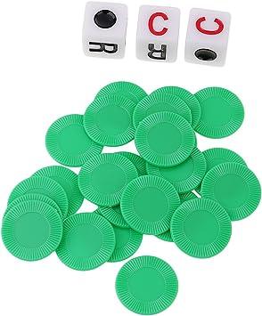 P Prettyia Juego De Fichas De Póquer De Dados De Plástico para Juegos De Mesa Y Accesorios De Juegos De Póquer 3 Colores: Amazon.es: Juguetes y juegos