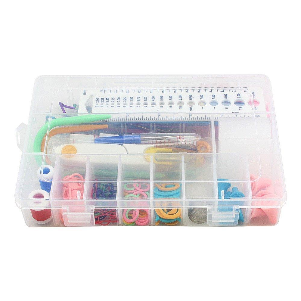 Hmzsp Knitting Accessory Kit Supply Set Basic Tools + Case Lots Pcs