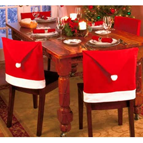 the purple tree Cute Christmas Chair Covers (Red and White) - Set of 4