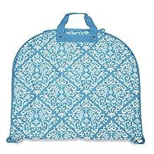 Ever Moda Damask Collection 40-inch Hanging Garment Bag (Damask - Teal Blue)