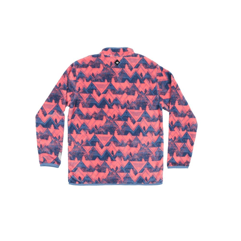 Southern Marsh Youth North Basin Pullover in Mountain Purple and Coral
