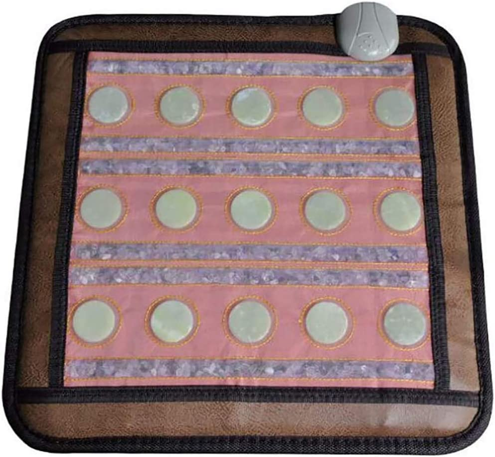 """Far Infrared Heating Pads - Infrared Heat Therapy Healing - Pain Relief That Works from 15 Real Jade Stones (not Cloth with Thin Wire), 18""""x 18"""", no EMF"""