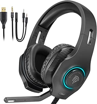 Auriculares Gaming Luces RGB, EasySMX [Regalos Originales] Cascos ...
