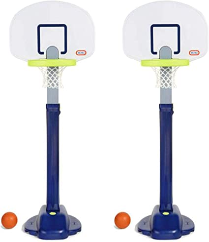 Amazon.com: Little Tikes Adjust 'n Jam Pro Basketball Hoop Toy with Sand Base (2 Pack): Toys & Games