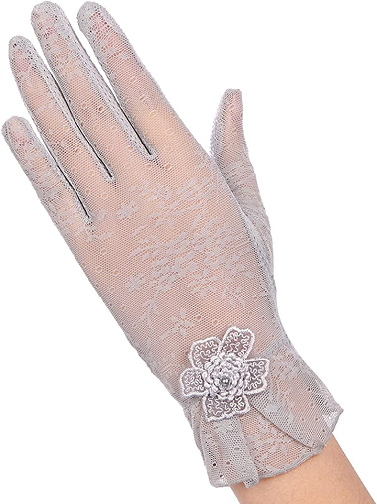 Belyee Women Lace Wedding Gloves UV Protection Summer Driving Gloves Touchscreen