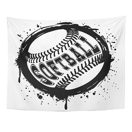Abstract Softball Art