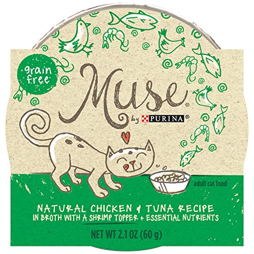 Muse by Purina Natural Hand Fillet Chicken with Topper Wet Cat Food (Chicken Shrimp)