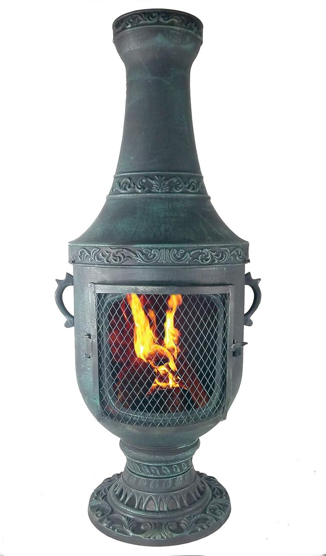 El azul gallo veneciano chimenea en color verde antiguo con ...