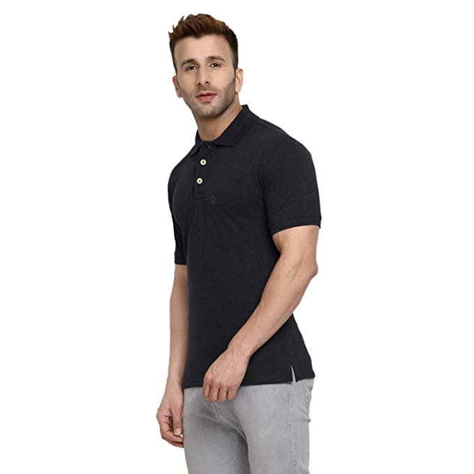 9d3306d56 CHKOKKO Men's Half Sleeves Plain Polo Collar Cotton T-Shirts with Pocket:  Amazon.in: Clothing & Accessories
