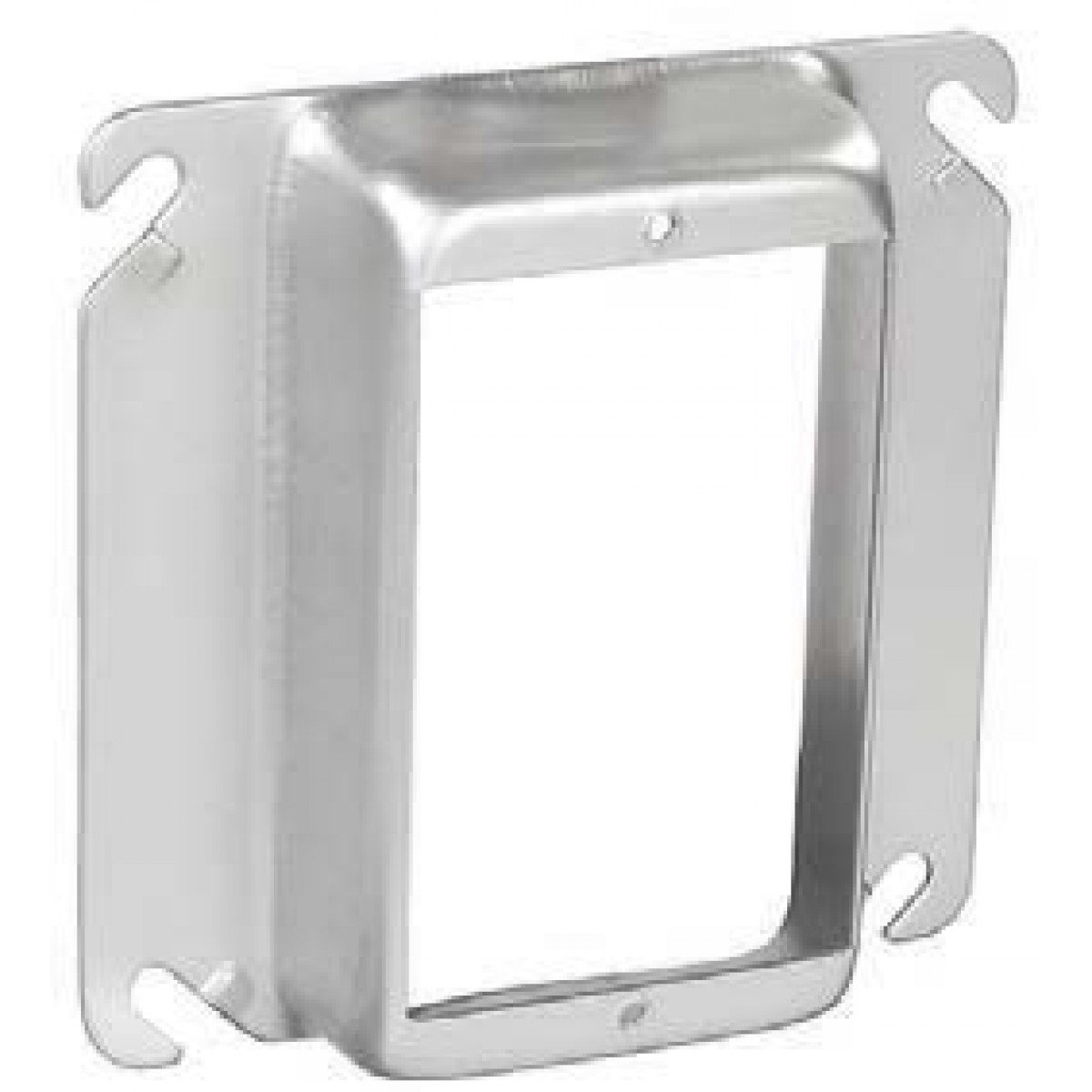 2 Pcs, Stainless Steel 4 Square One Gang Device Ring, 1/4 In. Raised Used In Damp, Wet, Or Highly Corrosive Environments Electrical Or Low Voltage Switch, Device Or Outlet Add to 4In Square Box