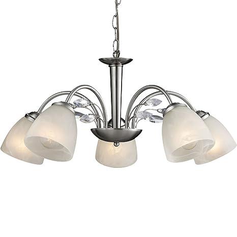 Candelabros 5 focos comedor lámpara iluminación de techo ...