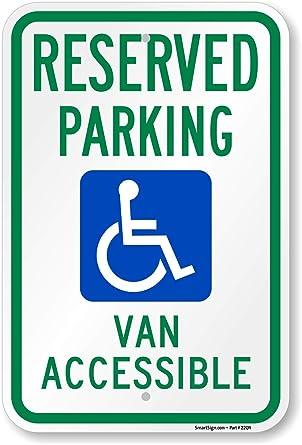 Amazon.com: SmartSign - Señal de aparcamiento con texto en ...