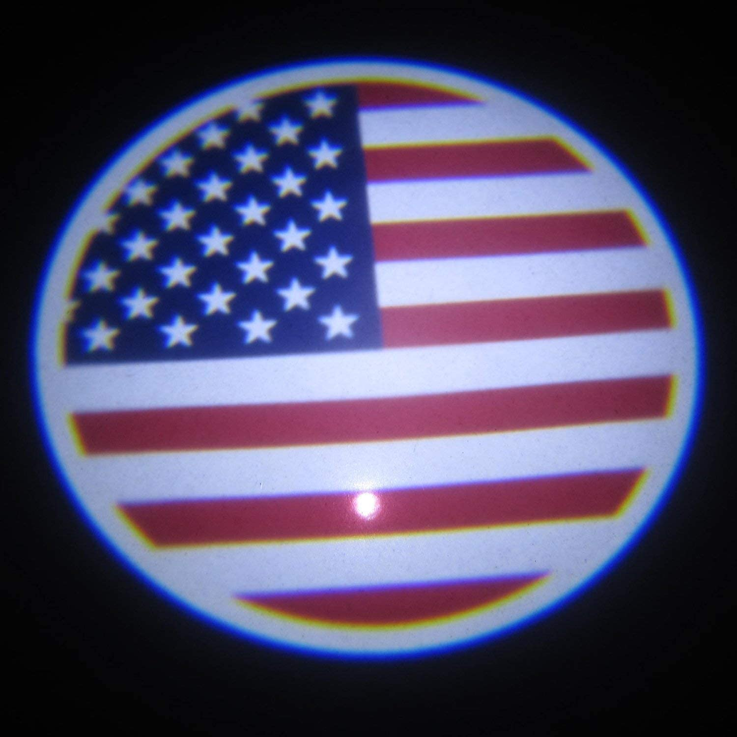 US Flag-Ford XIAOYES 2pcs for American Flag-Ford Car Door Led Welcome Laser Projector Car Door Courtesy Light Suitable Fit for All Brands of Cars
