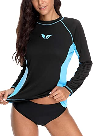 ATTRACO Girls Boys Raglan Rash Guard Swimsuit UV Protective Shirts Tops UPF 50+