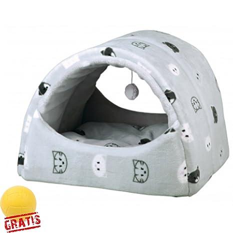 Trixie Mimi + Ball gratis Manta cueva Perros Gato cama Suelo antideslizante funda de peluche