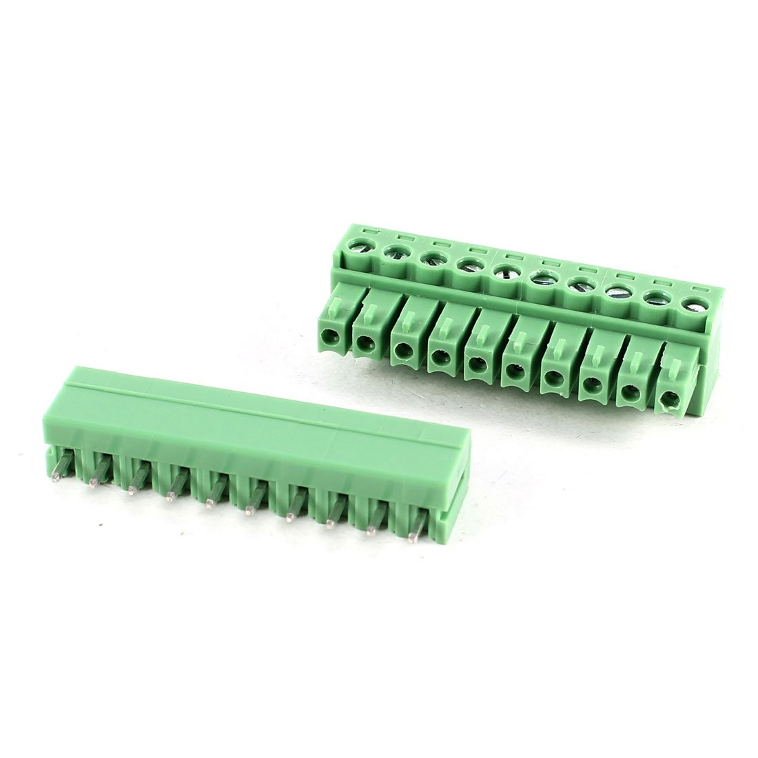 Sourcingmap/® Vert KF2EDG 3.81mm 10Position Vis Enfichable Terminal Bloc 300V 8A