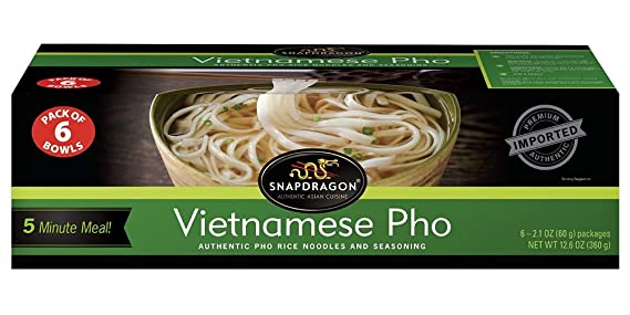 Amazon Com Snapdragon Vietnamese Pho Bowls 12 6 Ounce Pack Of 6 Bowls Grocery Gourmet Food
