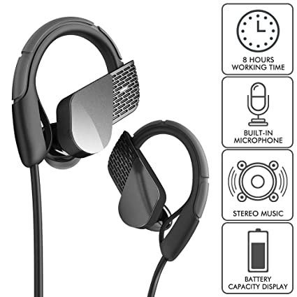 e453f5798fc Amazon.com: Wireless Bluetooth Earbuds Touch Control Headphones HD Stereo  Microphone Headsets Noise Cancelling Sports Earphones: Home Audio & Theater