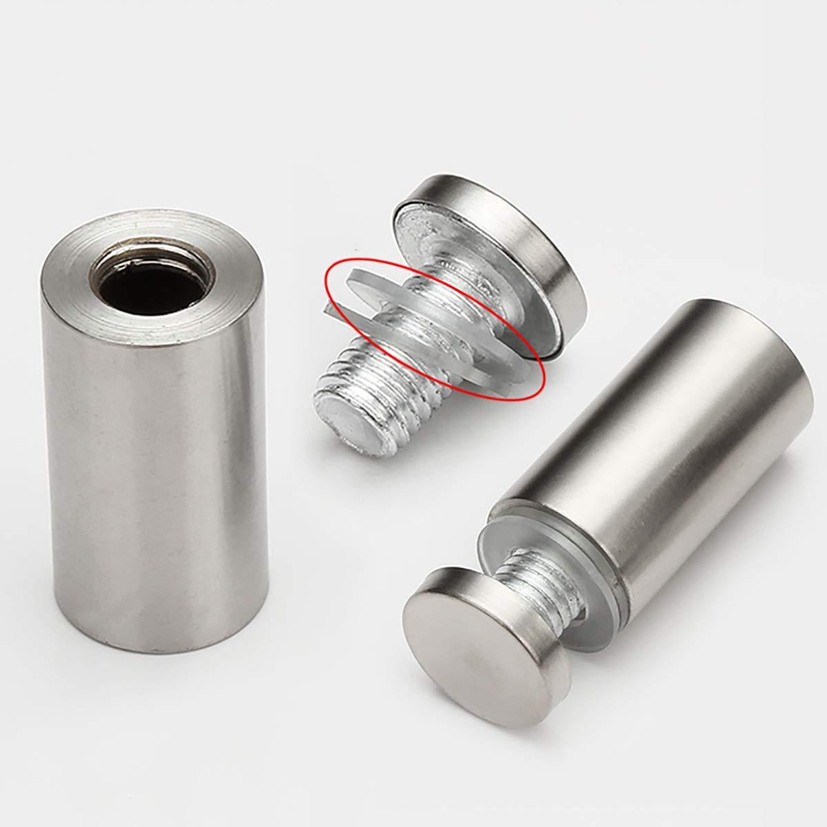 Publicidad de vidrio acr/ílico Standoff con accesorios de montaje de tornillo 12X Qrity Separador de fijaci/ón de vidrio 19X30mm